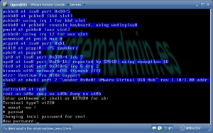 Cambiar el password de root en OpenBSD