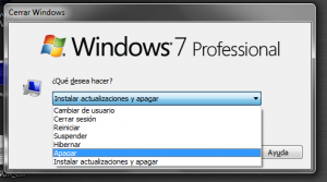 Apagar Windows sin instalar actualizaciones