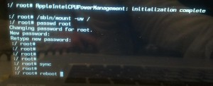 password de root de MacOSX cambiado