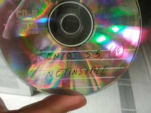 CD con CentOS antigua